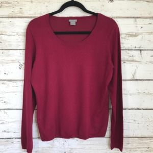 Ann Taylor Red Long sleeve Red Top